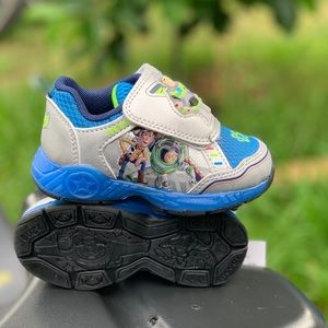 Toy Story Toddler Boys Light Up Athletic Shoes New